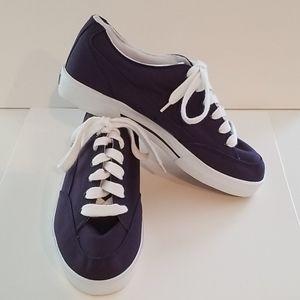 Ralph Lauren Blue Canvas Sneakers New Size 9